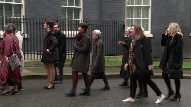 julie walters and others deliver women's refuge petition to 10 downing street england london downing street ext various of dame julie walters... - 10 downing street stock videos and b-roll footage