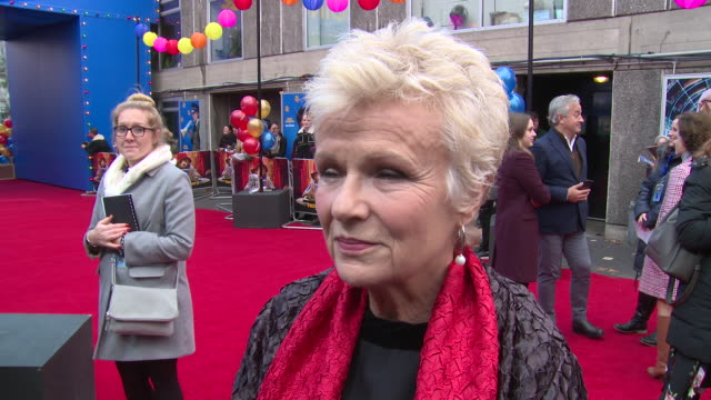 julie walters on london hugh grant and favourite set items at bfi southbank on november 05 2017 in london england - bfi southbank stock videos & royalty-free footage