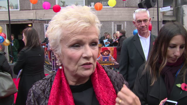 julie walters on stuntwork hugh grant and the feel good aspect of the movie at bfi southbank on november 05 2017 in london england - bfi southbank stock videos & royalty-free footage