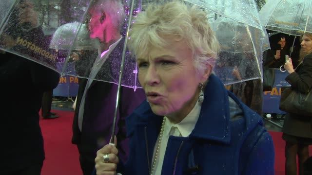 INTERVIEW Julie Walters on the weather and the Natural History Museum at the world premiere of Paddington on 23rd November 2014 in London England