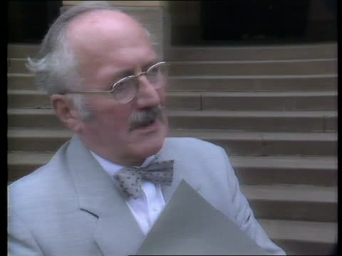 julie ward inquest altered police report prof austin gresham pathologist interview sot john ward along chater i/c itn via sat - pathologist stock videos and b-roll footage