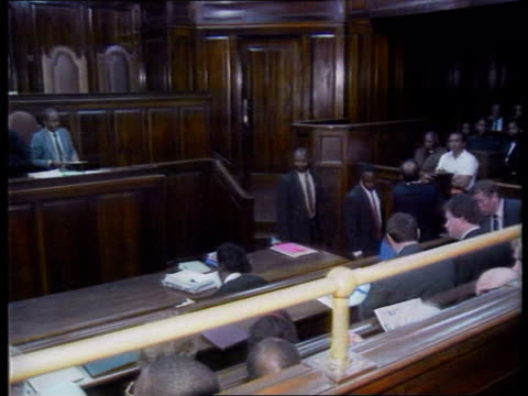 julie ward trial; itn kenya: nairobi: supreme court janet ward with other along l-r to bv in cms janet ward intvwd sof - i have to be here to see for... - court room stock videos & royalty-free footage