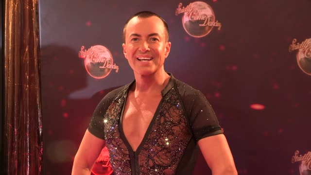 julien macdonald at strictly come dancing at elstree studios on september 03 2013 in borehamwood england - ハートフォードシャー点の映像素材/bロール