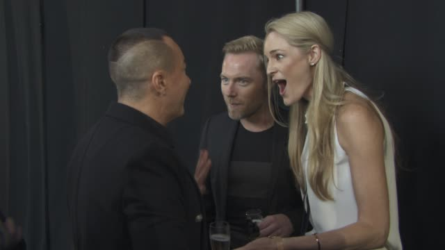 julien macdonald ronan keating storm keating at julien macdonald ss16 at smithfields market on september 19 2015 in london england - ronan keating stock videos & royalty-free footage