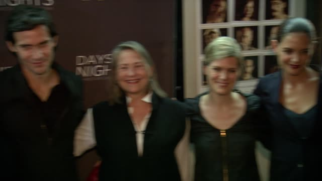 juliet rylance christian camargo cherry jones guest katie holmes at ifc center on september 25 2014 in new york city - katie holmes stock videos and b-roll footage