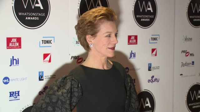 juliet stevenson at prince of wales theatre on february 25, 2018 in london, england. - juliet stevenson stock videos & royalty-free footage