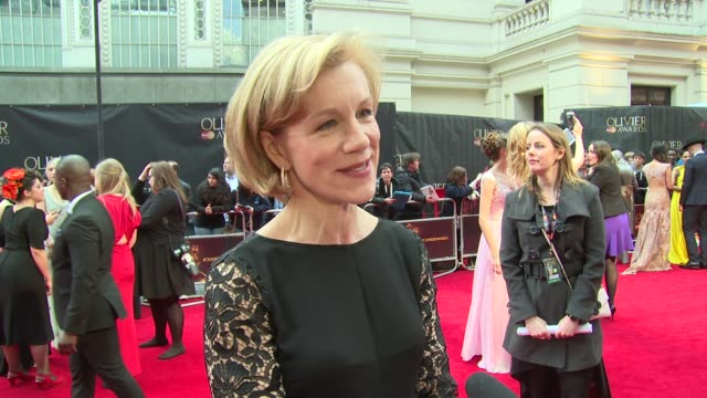 INTERVIEW Juliet Stevenson on the awards the judges and the difficulties in subjectivity at The Royal Opera House on April 03 2016 in London England