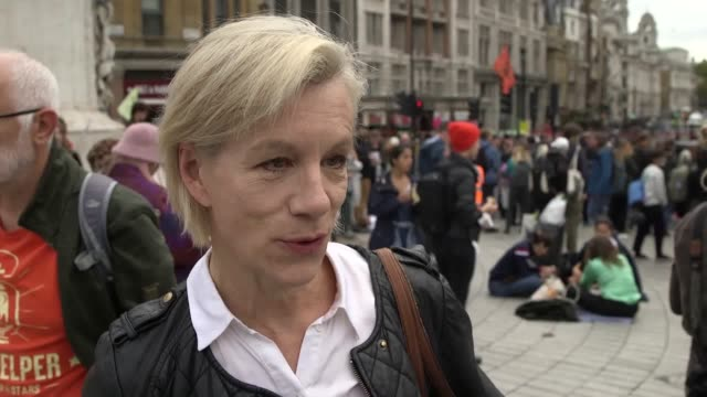 juliet stevenson on why she has decided to attend extinction rebellion's latest protest action to shutdown central london traffic. - juliet stevenson stock videos & royalty-free footage
