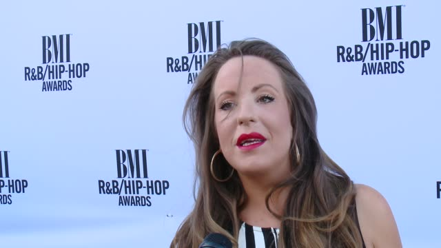 juliette ashby on what inspired her to become a songwriter, on her advice for aspiring songwritersn and her favorite ludacris song at the 2014 bmi... - songwriter stock videos & royalty-free footage