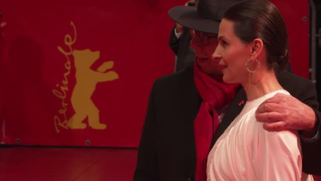 juliette binoche at 'elisa & marcela ' red carpet arrivals 69th berlin film festival at berlinale palast on february 13, 2019 in berlin, germany. - juliette binoche stock videos & royalty-free footage