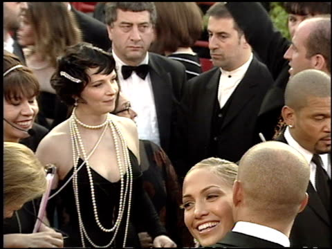 juliette binoche at the 2001 academy awards at the shrine auditorium in los angeles, california on march 25, 2001. - juliette binoche stock videos & royalty-free footage