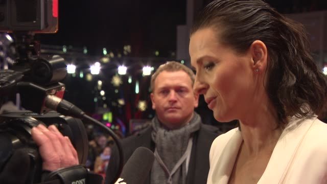 juliette binoche on being part of a great film, seeing the film for the first time at 'nobody wants the night' premiere - 65th berlinale... - juliette binoche stock videos & royalty-free footage