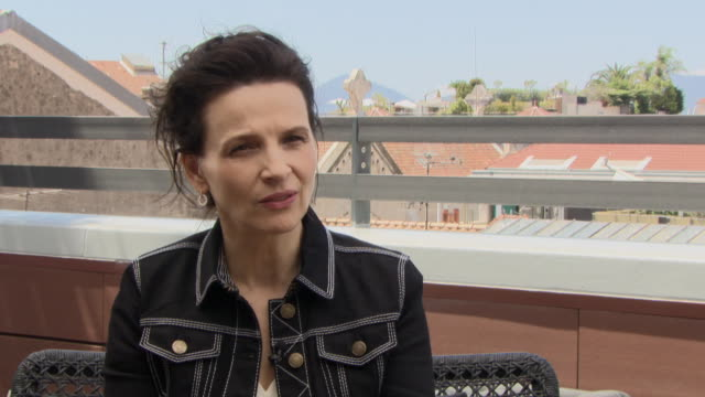 juliette binoche on what attracts her to a role at 'slack bay' interviews at on may 14, 2016 in cannes, france. - juliette binoche stock videos & royalty-free footage