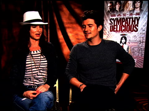 Juliette Lewis and Orlando Bloom on healing and their experiences at the 'Sympathy For Delicious' Junket at Hollywood CA