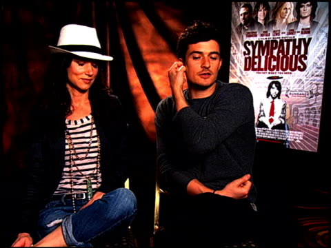 Juliette Lewis and Orlando Bloom on how he created his rock star character at the 'Sympathy For Delicious' Junket at Hollywood CA