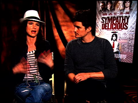 Juliette Lewis and Orlando Bloom on why she was interested in the script at the 'Sympathy For Delicious' Junket at Hollywood CA
