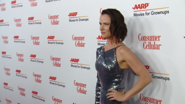 juliette lewis at aarp the magazine celebrates 19th annual movies for grownups awards at beverly wilshire, a four seasons hotel on january 11, 2020... - juliette lewis stock videos & royalty-free footage
