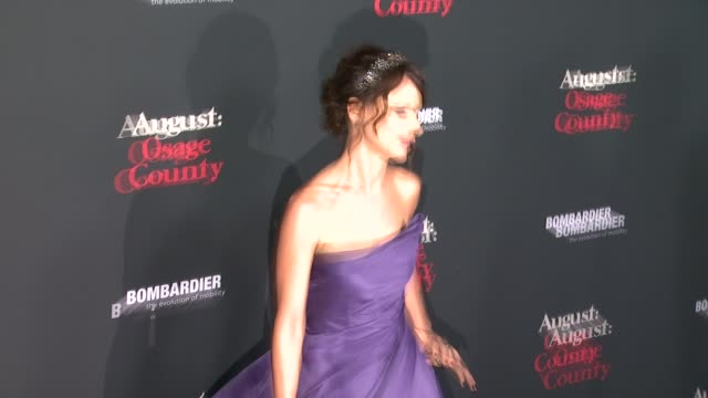 """juliette lewis at """"august: osage county"""" los angeles premiere in city los angeles, on . - juliette lewis stock videos & royalty-free footage"""