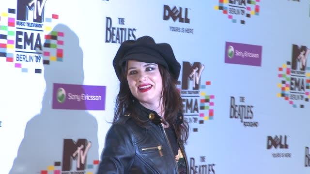 juliette lewis at the mtv european music awards at berlin . - juliette lewis stock videos & royalty-free footage