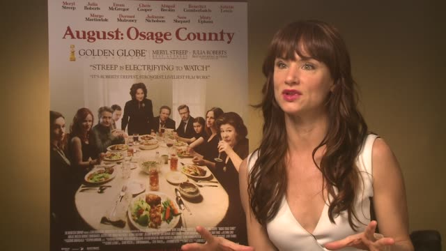 INTERVIEW Juliette Lewis on being nominated for an award at 'Osage County' Interviews on December 19 2013 in London England on December 19 2013 in...