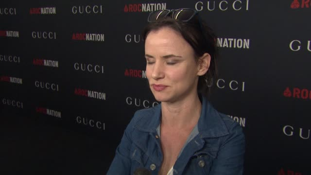 juliette lewis on gucci at the gucci & rocnation pre-grammy brunch at west hollywood ca. - juliette lewis stock videos & royalty-free footage