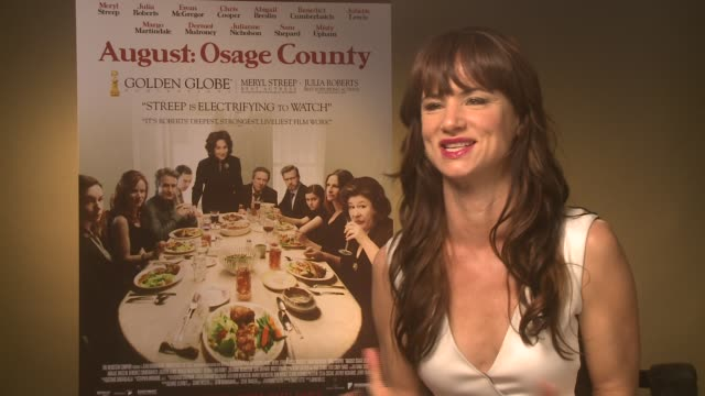 INTERVIEW Juliette Lewis on reading the script at 'Osage County' Interviews on December 19 2013 in London England on December 19 2013 in London...