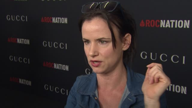 juliette lewis on the grammys at the gucci & rocnation pre-grammy brunch at west hollywood ca. - juliette lewis stock videos & royalty-free footage