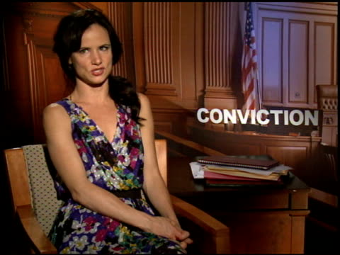 Juliette Lewis on what she hopes the audience will take a way from the film at the 2010 Toronto International Film Festival 'Conviction' Junket at...