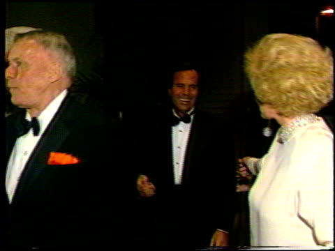 julio iglesias at the various events with frank sinatra on january 1, 1993. - frank sinatra stock videos & royalty-free footage