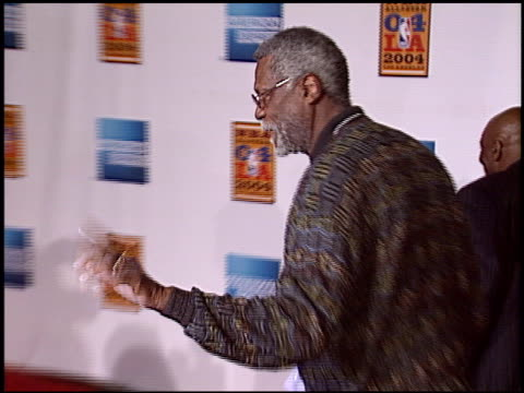 julius dr j erving at the magic johnson tribute at the shrine auditorium in los angeles california on february 12 2004 - magic johnson stock videos and b-roll footage