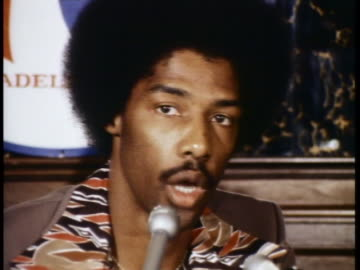 julius erving talks about the trade that sent him from the new york nets to the philadelphia 76ers. - sport stock videos & royalty-free footage