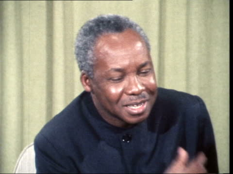 """julius nyerere leaves ; b) england: london: lap : int julius nyerere interview sof: """"it's a very serious... - peter snow stock videos & royalty-free footage"""