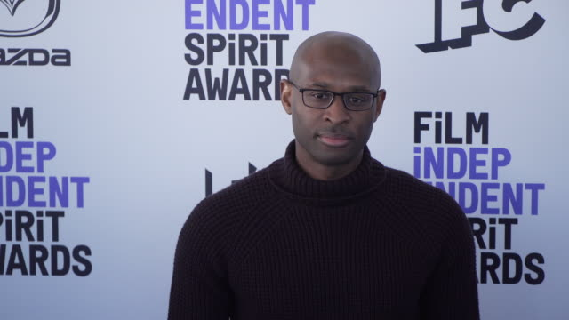 julius onah at the 2020 film independent spirit awards on february 08 2020 in santa monica california - film independent spirit awards stock videos & royalty-free footage