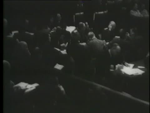 julius streicher and ernst kaltenbrunner answer questions at the nuremberg trials. - nuremberg trials stock videos & royalty-free footage