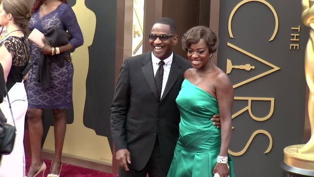 Julius Tennon and Viola Davis 86th Annual Academy Awards Arrivals at Hollywood Highland Center on March 02 2014 in Hollywood California
