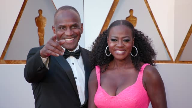 julius tennon and viola davis at 90th academy awards arrivals at dolby theatre on march 04 2018 in hollywood california - 90th annual academy awards stock videos & royalty-free footage