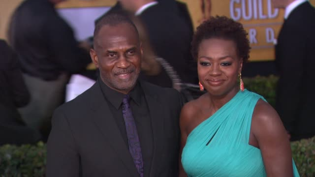 julius tennon viola davis at 19th annual screen actors guild awards arrivals on 1/27/13 in los angeles ca - screen actors guild stock videos and b-roll footage