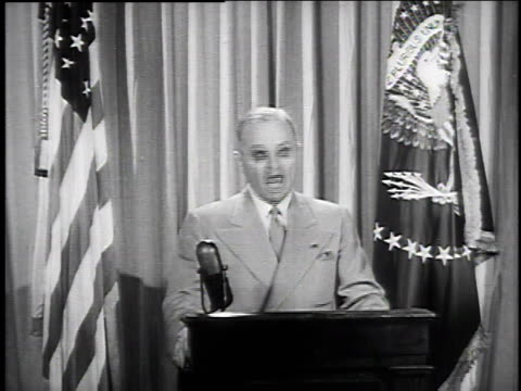 july 1 1946 ms us president harry truman makes speech about price controls / washington dc united states - 1946 stock videos and b-roll footage