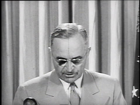 july 1 1946 cu us president harry truman makes speech about price controls / washington dc united states - 1946 stock videos and b-roll footage