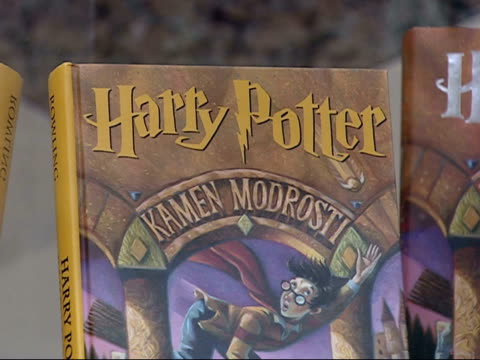 July 19 2007 CU Harry Potter book in Slovenian at the Arlington Central Library / Arlington Virginia United States