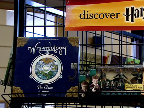 July 19 2007 PAN Harry Potter merchandise on sale in a book store / Arlington Virginia United States