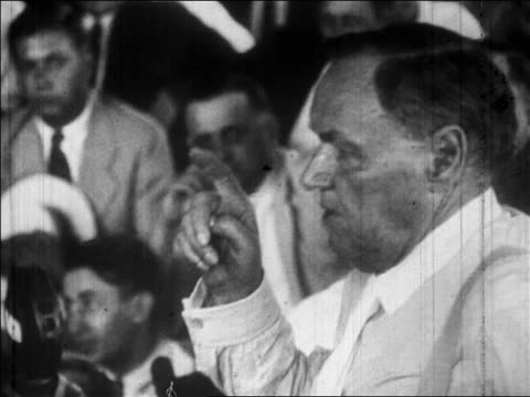 b/w july 1925 close up profile clarence darrow speaking to courtroom / scopes trial tennessee / newsreel - 1925 stock videos & royalty-free footage