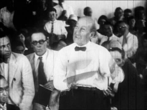 b/w july 1925 william jennings bryan holding fan talking / scopes trial tennessee / newsreel - 1925 stock videos & royalty-free footage