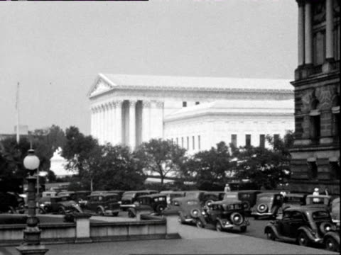 july 1938 b/w montage supreme court building / washington dc, usa - us supreme court building stock videos and b-roll footage