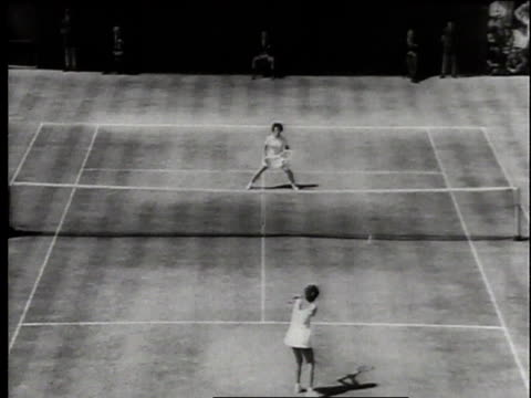 july 1966 montage billie jean king defeating maria bueno in the wimbledon finals / london united kingdom united kingdom - billie jean king stock videos & royalty-free footage