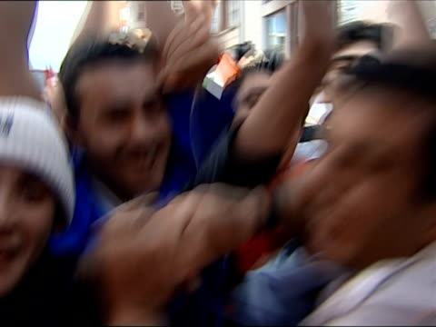 july 2007 iraq football supporters in london celebrating asian cup win/ london, england/ audio - 2007 stock videos & royalty-free footage