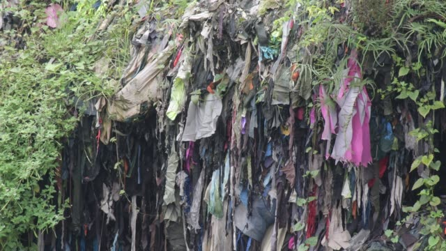 july 2020: garment factory waste at a dumping site in dhaka. - textile industry stock videos & royalty-free footage