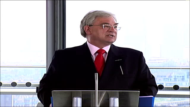 july 7th bombings report; city hall: int richard barnes am speech sot - the immediate lesson was that the ambulance services was totally over-... - kilometre stock videos & royalty-free footage
