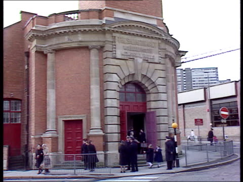 july; salvation army founded in 1865 lib england: nottingham: ext sign 'salvation army william booth memorial halls' / salvation army officers... - salvation army stock videos & royalty-free footage