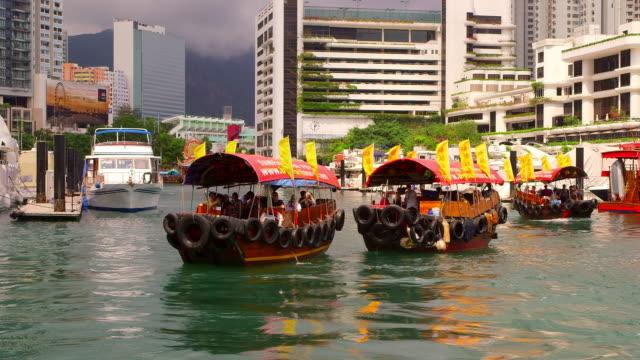 vídeos de stock e filmes b-roll de jumbo kingdom, hong kong - sampana